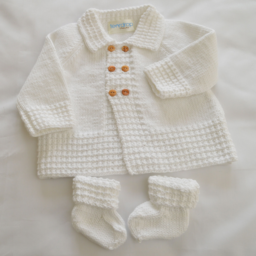Baby Boy S Matinee Coat And Bootie Set Organic Cotton